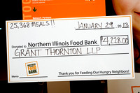 GT volunteering at the Northern Illinois Food Bank - Friday